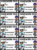 FREE homework pass printables