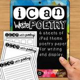 FREE iPad Poetry Paper - 6 versions