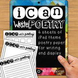 FREE iPad Poetry Paper - 6 versions