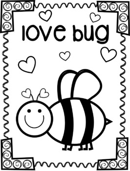 FREE love bug coloring page {Texas Twist Scribbles}