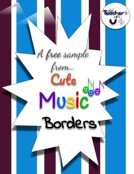 FREE music staff border
