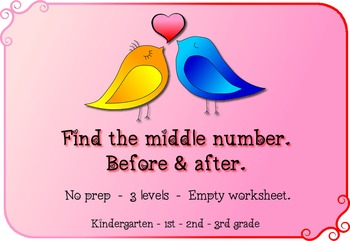 FREE no prep, Before, between and after worksheets