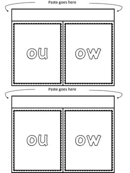 FREE ou / ow Phonics Printables (No Prep)