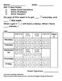 FREE personal behavior chart (editable)