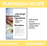 FREE play dough recipe with 6 learning activities