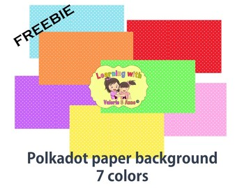 FREE polkadot digital paper background - personal commercial use