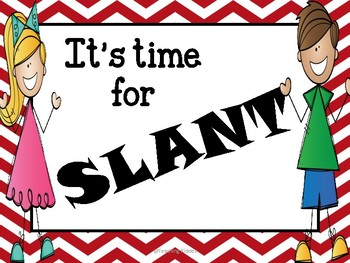 FREE poster- SLANT - cooperative learning
