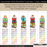 "FREE! printable ""Read Read Read"" bookmarks"