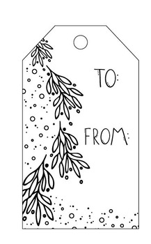 picture relating to Printable Christmas Tags Black and White identify Free of charge printable getaway tags, present tags, family vacation labels
