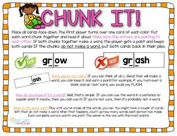 FREE r-blend Chunk It phonics game