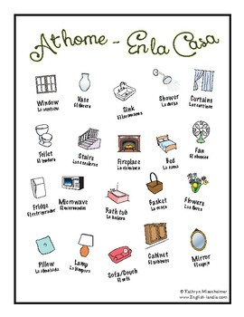 "FREE resource - ""At Home"" Spanish/English"