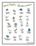 "FREE resource - ""School Supplies"" Spanish/English"