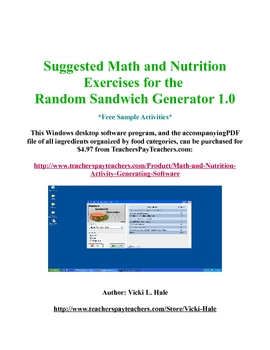 FREE sample: Applied Math & Nutrition software generated exercises