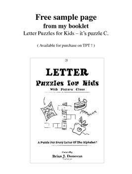 FREE sample Letter Puzzle (English)