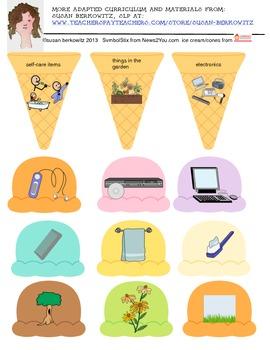FREE sample of Cool Language Vocabulary activity for categorizing