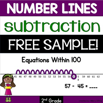 FREE subtraction number lines