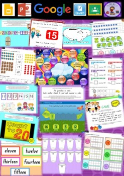 Kindergarten Maths Numbers 11 - 20 Smart Notebook