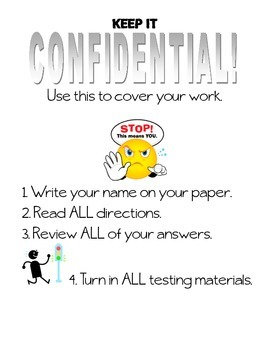 FREE test cover sheet
