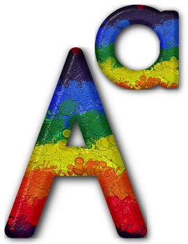 Alpha Paint Splatter Clip Art ~ Alphabet Graphics ~ CU OK