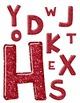 Alpha Red Shiny & Glitter Clip Art ~ Alphabet Graphics ~ CU OK