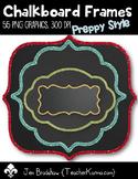 Chalkboard Frames #1 *Preppy* Clip Art ~ Commercial Use OK