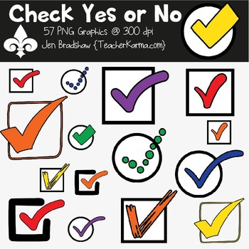 Check Yes or No Clipart ~ Commercial Use OK ~ Checkmarks