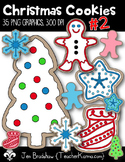 Christmas Cookies #2, Gingerbread Clipart