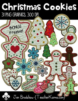 Christmas Cookies Clip Art ~ Commercial Use OK ~ Holiday