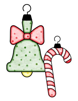 Christmas Ornaments {Dotty Dots Style} Clip Art ~ Commercial OK