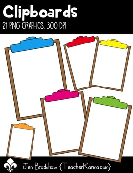 Clipboards Clip Art ~ Commercial Use OK