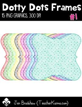 Dotty Dots Frames #1 Clip Art ~ Polka Dots ~ CU OK