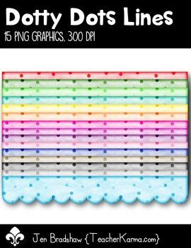 Dotty Dots Lines Clip Art ~ Polka Dots ~ CU OK ~ Dividers