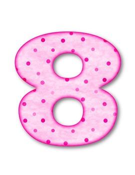 Dotty Dots Numbers Clip Art ~ CU OK ~ Polka Dots