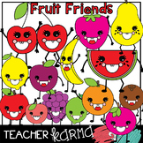 Fruit Friends Clipart * Happy Smiley Face