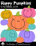 Happy Pumpkins Clip Art ~ Halloween ~ Fall ~ Commercial OK