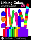 Linking Cubes Kit  Clip Art ~ Commercial OK ~ Math