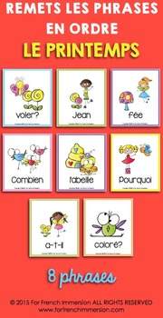 French Spring Sentence Builders | Printemps