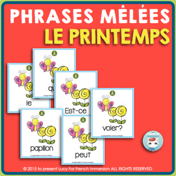 Printemps FRENCH Spring Sentence Builders