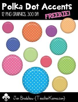 Polka Dot Accents Clip Art ~ Commercial Use OK ~ Frames