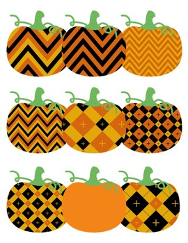 Pumpkin Pizazz Clipart ~ Commercial Use OK ~ Halloween