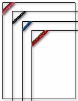 Simple Glitter Borders & Frames ~ Clip Art ~ CU OK