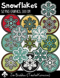 Snowflakes Clip Art ~ Commercial OK ~ Winter