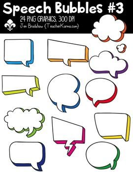 Speech Bubbles #3 Clipart ~ Commercial Use OK