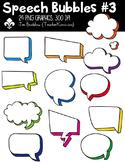 Speech Bubbles #3 Clipart ~ Commercial Use OK
