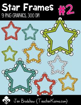 Star Frames #2 Centers Clip Art ~ Commercial OK ~ Borders
