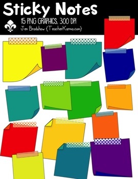 Sticky Notes! Frames Clipart ~ Commercial Use OK ~ Post Its