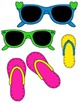 Sunglasses & Flip Flops  Clip Art ~ Commercial OK ~ Summer