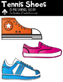 Tennis Shoes Clipart ~ Commercial Use OK ~ Sports