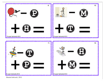 FREE trial Word Family Phoneme Manipulation Task Cards for Speech Language ELA