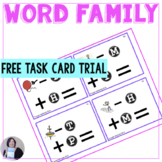 FREE trial Word Family Phoneme Manipulation Task Cards for